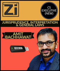 CS Executive (New) Jurisprudence, Interpretation and General Laws By Amit Bachhawat - Zeroinfy