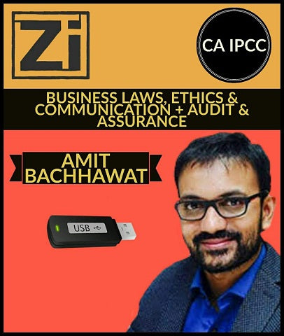 CA IPCC Business Laws, Ethics And Communication + Auditing And Assurance By Amit Bachhawat - Zeroinfy