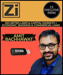 CS Executive (New) Securities Laws & CM and Eco, Business and Commercial Laws-Amit Bachhawat - Zeroinfy
