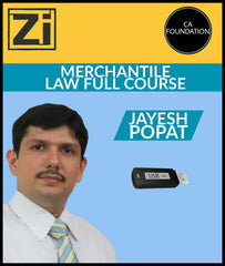 CA Foundation New Mercantile Law Full Course By Jayesh Popat - Zeroinfy