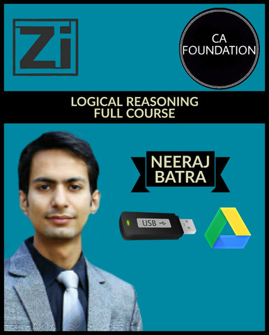 CA Foundation Logical Reasoning Full Course Videos By CA Neeraj Batra - Zeroinfy