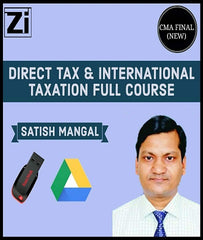 CMA Final Direct Tax and International Tax Full Course By Satish Mangal (New) - Zeroinfy