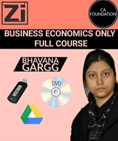 CA Foundation Business Economics Only Bhavana Gargg