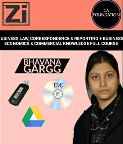 CA Foundation Business Law, BCR, Business Economics and BCK Full Course Videos Bhavana Gargg - Zeroinfy