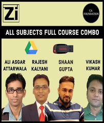 CA Foundation All Subjects Full Course Combo by Edmiron - Zeroinfy