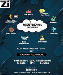Mentoring Program By CA Ravi Agarwal - Zeroinfy