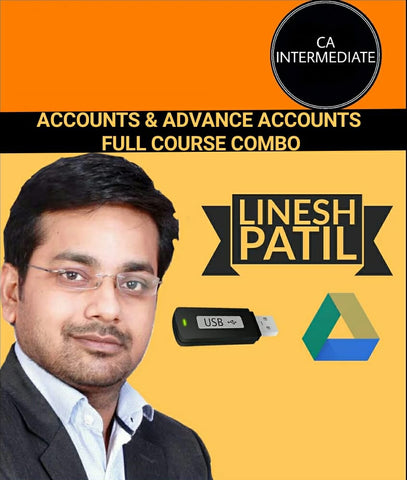 CA Inter Accounts & Advanced Accounts Full Course Combo by Linesh Patil - Zeroinfy