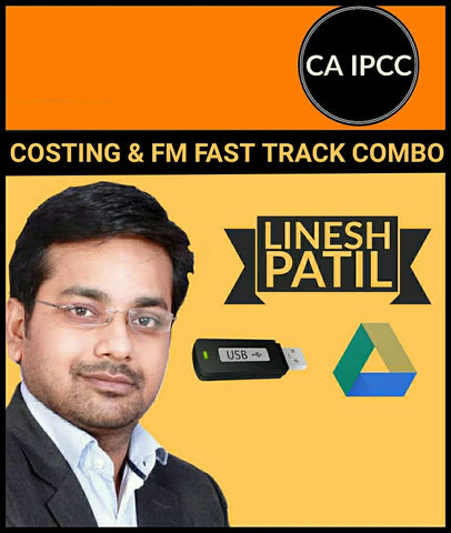 CA IPCC Costing and FM Fast Track Combo by Linesh Patil - Zeroinfy