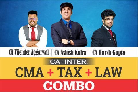CA Inter Cost, Law And Taxation Full Course Combo By Ashish kalra, Vijendra Aggarwal, Harsh Gupta - Zeroinfy