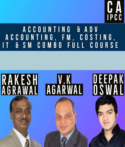 CA IPCC Accounts, Adv. Accounts, FM, Costing, IT & SM Combo Full Course By AS Foundation - Zeroinfy