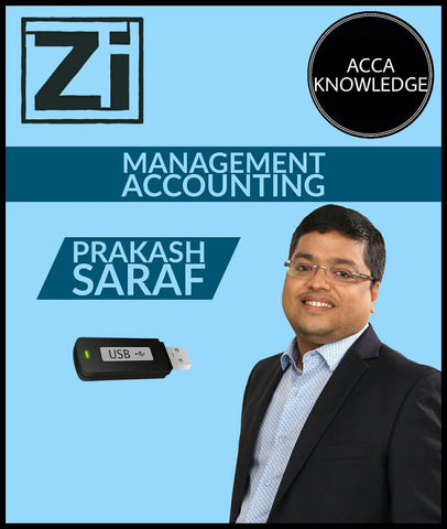 ACCA Knowledge Level MANAGEMENT ACCOUNTING By Prakash Saraf (PenDrive) - Zeroinfy