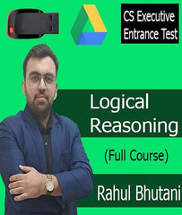 CS Executive Entrance Test  ( CSEET ) Logical Reasoning Full Course Video Lecture By Prof. Rahul Bhutani - Zeroinfy