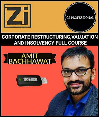 CS Professional Corporate Restructuring, Valuation and Insolvency (M-1) BY Amit Bachhawat (OLD) - Zeroinfy