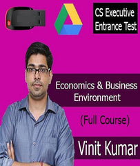 CS Executive Entrance Test  ( CSEET ) Economics and Business Environment Full Course Video Lecture By Prof. Vinit Kumar - Zeroinfy