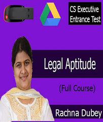 CSEET Legal Aptitude Full Course by CA Rachna Dubey - Zeroinfy