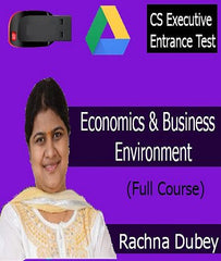 CSEET Economics and Business Environment Full Course by CA Rachna Dubey by zeroinfy