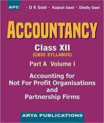 Accountancy (Part-A) Vol-I, Class 12 Paperback - 1 January 2020 By D k Goel - Zeroinfy