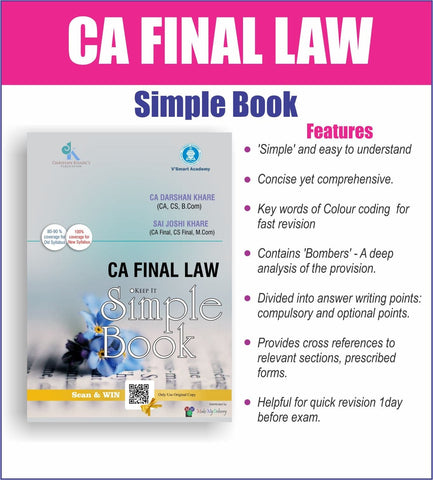 CA Final (Old/New) Law Simple Book By CA Darshan Khare - Zeroinfy