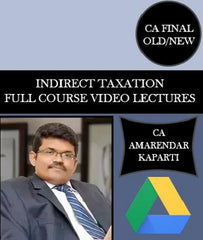 CA Final IDT Full Course Video Lectures By CA Amarendar Kaparti (Old/New) - Zeroinfy