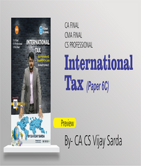 CA/CMA/CS Final International Taxation (6C) Book By CA Vijay Sarda - Zeroinfy