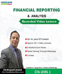 CFA Program Coaching Level 1 Financial Reporting Full Course By Bhupesh Anand - Zeroinfy