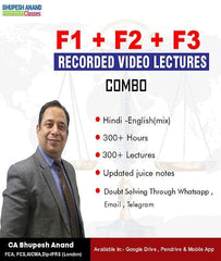ACCA knowledge Level F1, F2, F3 Full Course Combo By Bhupesh Anand - Zeroinfy
