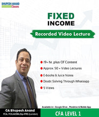 CFA Program Coaching Level 1 Fixed Income Full Course By Bhupesh Anand - Zeroinfy