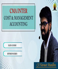 CMA Inter Cost and Management Accounting Full Course By CA Navneet Mundhra - Zeroinfy