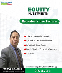 CFA Program Coaching Level 1 Equity Full Course By Bhupesh Anand - Zeroinfy