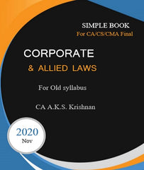 CA Final Old Corporate and Allied Laws Concept Book By CA AKS Krishnan - Zeroinfy
