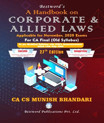 CA Final Handbook On Corporate and Allied Laws by CA Munish Bhandari for Nov 2020 - Zeroinfy