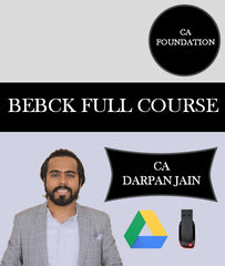 CA Foundation BEBCK Full Course By CA Darpan Jain - Zeroinfy