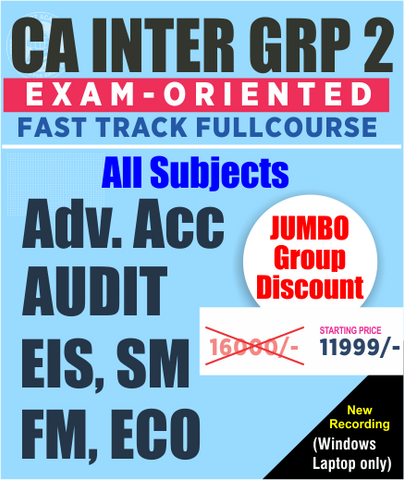 CA Inter Group 2 All Subject Combo Fast Track By Vsmart Academy