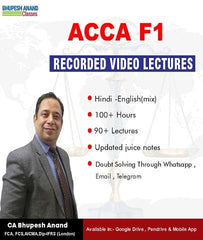 ACCA knowledge Level F1 Accountant In Business Full Course By Bhupesh Anand - Zeroinfy