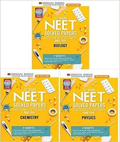 32 Years NEET Solved Papers Chapter-wise & Topic-wise PCB by Oswaal Editorial Board - Zeroinfy