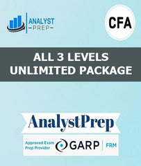 CFA All 3 Levels Unlimited Package by AnalystPrep - Zeroinfy