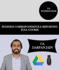 CA Foundation Business Correspondence and Reporting Full Course By CA Darpan Jain