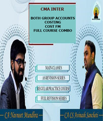 CMA Inter Both Group Accounts, Costing, Cost FM Combo By CA Avinash Sancheti and CA Navneet Mundhra - Zeroinfy