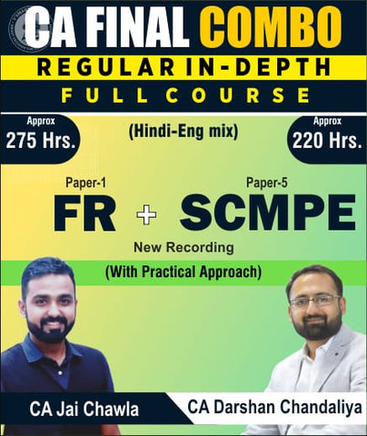 CA Final FR and SCMPE Full Course By CA Jai Chawla and CA Darshan Chandaliya