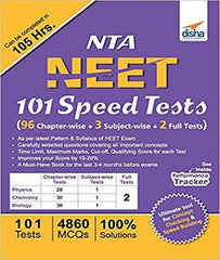 NTA NEET 101 Speed Tests (96 Chapter-wise + 3 Subject-wise + 2 Full) by Disha Experts - Zeroinfy