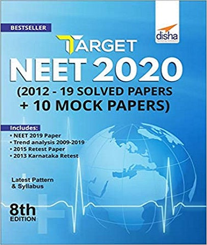 Target NEET UG 2020 (2019 - 12 Solved Papers + 10 Mock Papers) 8th Edition by Disha Experts - Zeroinfy