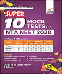 Super 10 Mock Tests for NTA NEET 2020 By Disha Experts - Zeroinfy
