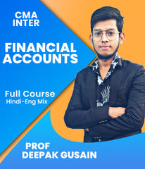 CMA Inter Financial Accounts Full Course by Prof Deepak Gusain - Zeroinfy
