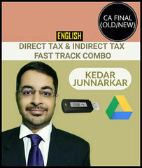 CA Final Direct Tax and Indirect Tax Fast Track Combo By Kedar Junnarkar - Zeroinfy