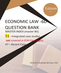 CA Final Elective Paper 6D Economic Laws Case Study with Answers By CA AKS Krishnan - Zeroinfy