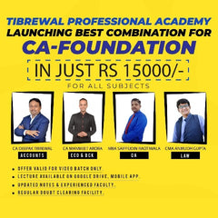 CA Foundation All Subjects Combo By Tibrewal Professional Academy - Zeroinfy