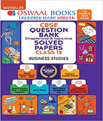 CBSE Question Bank Class 12 Business Studies Book Chapterwise & Topicwise Includes Objective Types & MCQ's For 2021 Exam By Oswaal