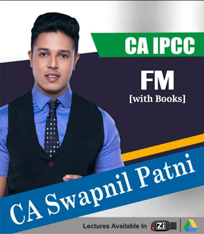 CA IPCC Financial Management Full Course Video Lectures with Books By CA Swapnil Patni - Zeroinfy