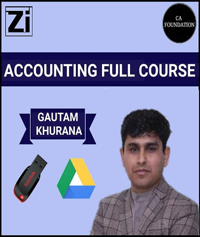 CA Foundation Accounting Full Course Video Lectures By Gautam Khurana - Zeroinfy