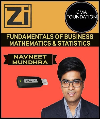 CMA Foundation Fundamentals of Business Mathematics & Statistic By Navneet Mundhra - Zeroinfy
